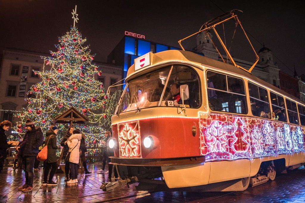 tsjechie tram brno kerstmarkt